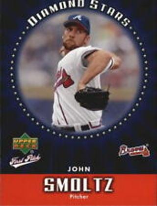 John Smoltz - 2006 Upper Deck First Pitch Diamond Stars #DS-3 - HALL OF FAMER - Mint card