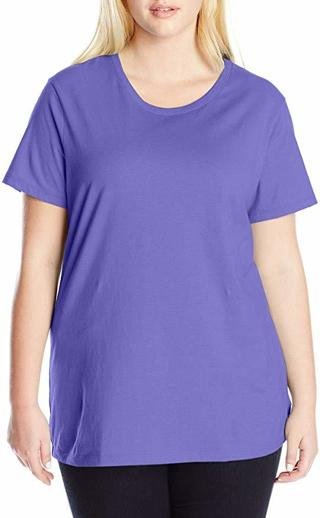 Women's Plus-Size Short Sleeve Crew Neck Tee - SIZE 1X-5X Color Depend On Stock