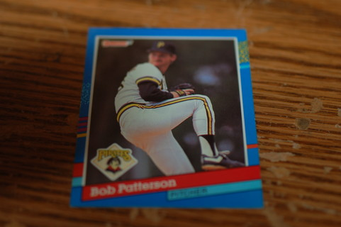 One Bob Patterson 1991 Leaf Pittsburg Pirates Baseball Card