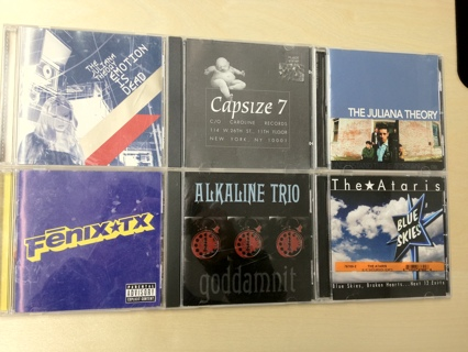 MUSIC CDs: Alkaline Trio, FenixTX, Juliana Theory, Capsize 7,