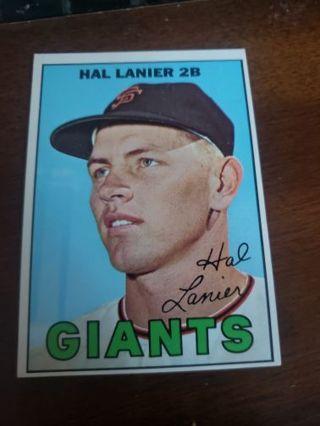 1967 Hal Lanier San Francisco giants vintage baseball card