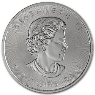 2014 Canadian Maple Leaf .999 Fine Silver