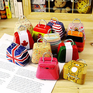 2Pcs Metal Mini Candy Bag Handbag Case Xmas Party Favor Storage Box Decor