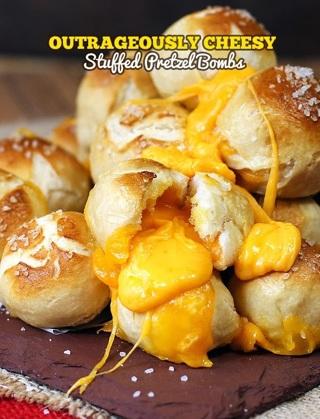 Cheese Stuffed Pretzel Bombs (appetizer recipe)