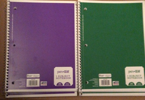 2 Brand New, 70 page, Wide Ruled, One Subject Notebook. Perfect Tear-Out Pages!!