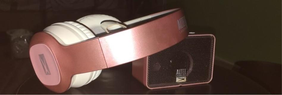 Bluetooth headphones and speaker