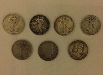 7-90% Silver Half Dollars (Rare)