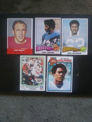 60's-70's NFL lot 5 (49'ers, Bills, Chargers, Dolphins, Patriots)