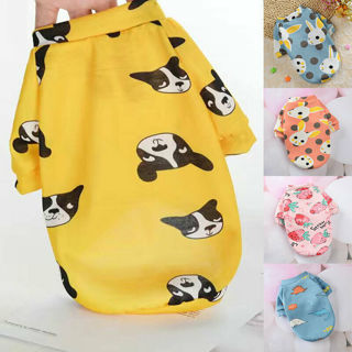 [GIN FOR FREE SHIPPING] Pet Dog Sweater Animal Fruit Printing Velvet Warm Shirt