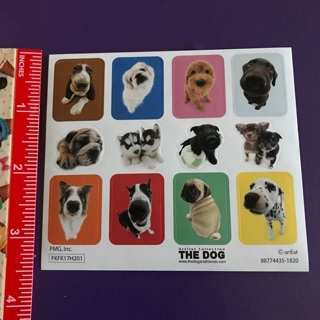 The Dog Big Nosed Puppies Sticker Sheet BRAND NEW