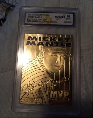 1996 Micky mantle 23k gold card