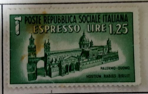 1 OLD USED STAMP OF ITALY.