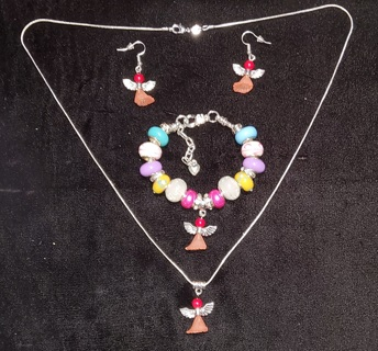 Easter Angel, 3 Piece set, Creations by Cris