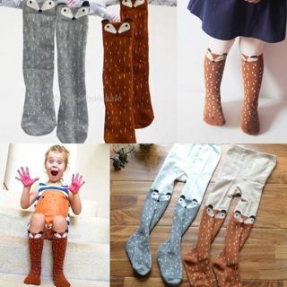 Baby Kids Girls Cotton Fox Tights Socks Stockings Pants Hosiery Pantyhose