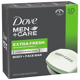 Dove Men+Care Body and Face Bar, Extra Fresh, 4 oz, 20 Bars