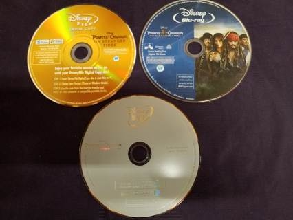 Pirates of the Caribbean On Stranger Tides (Blu-ray/DVD 3-Disc Set) Disney movie