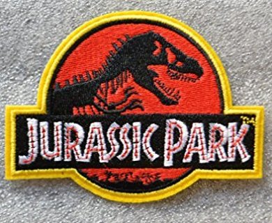 NEW Jurassic Park IRON ON PATCH Embroidered Patch Aplique Badge FREE SHIPPING