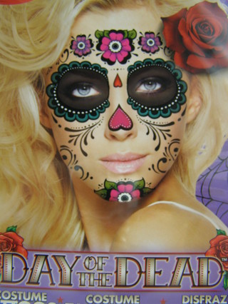 Free: temporary tattoo Halloween costume makeup, sugar skull, Day of ...