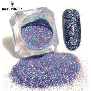 BORN PRETTY Starry Nail Glitter Powder Holographic Laser Glitters Dust Manicure Nail Art Decoratio