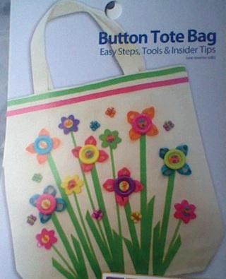 button tote bag
