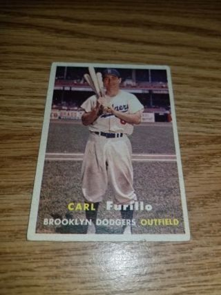 1957 Topps Baseball Carl Furillo #45 Brooklyn Dodgers,VG condition,Free Shipping!