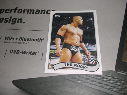 wwe  2019  topps  heritage    the  rock     card    81