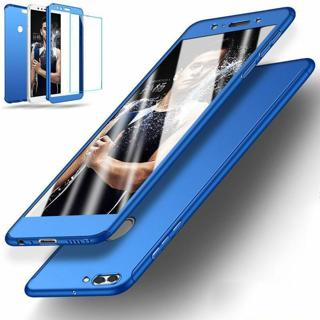 360° Full Cover Slim Case+Tempered Glass For Huawei P8 P9 P10 P20 Mate10 Honor 9