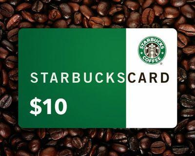 Starbucks $10 Gift Card (No Gin Sorry)
