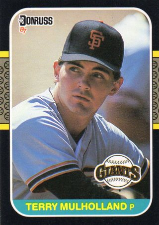 Free 1986 Donrussleaf Baseball Card Giants Terry Mulholland