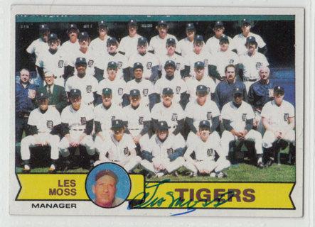 1979 Topps Les Moss Detroit Tigers autograph card *deceased