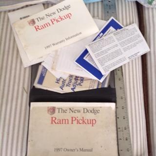 1997 Dodge Ram pickup Owner's manual in case.