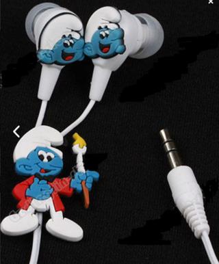 6e1077637 Free: The Smurfs Headphones Earphone Headset 3.5mm For MP3 Smurf ...