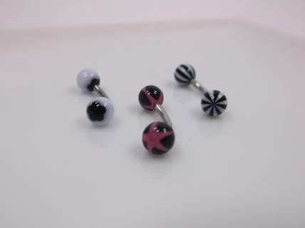 3 Curved Body Jewelry 14g