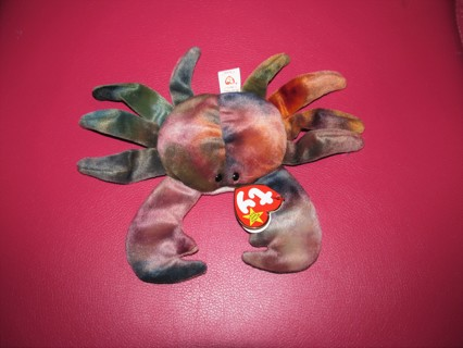 Ty Beanie Baby Claude the Crab Tie Dyed Stuffed Plush Toy