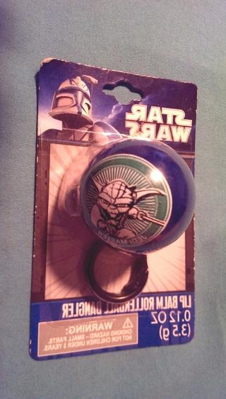 Star Wars Yoda Lip Balm Rollerball Dangler NIP