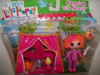 Free Lalaloopsy Mini Doll Camping With Sunny Side Up Tent Campfire