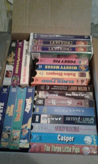 22 VHS Tapes