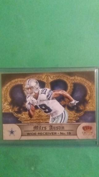 miles austin football card free shipping
