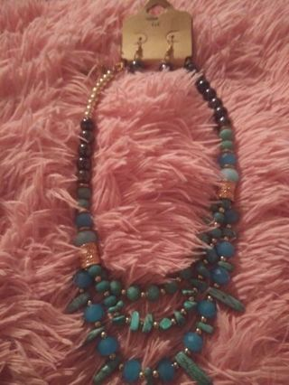 Bead turquoise necklace