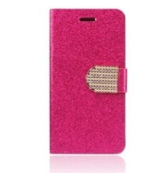NEW Apple iPHONE 6 SMART PHONE CASE for cell phones Fold Up PINK Sparkle glam case FREE SHIPPING