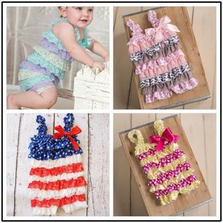 Baby Girl Rompers Summer Baby Rompers Baby Party Clothes Newborn Lace Ruffle Romper Toddler Girls