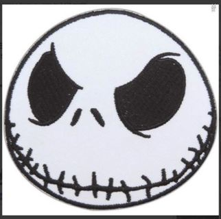 NIGHTMARE Jack Skellington Patch IRON ON Patch Clothing accessories Embroidery Applique