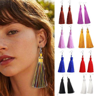 Vintage Women Bohemian Earrings Fashion Long Tassel Fringe Dangle Earrings Gift