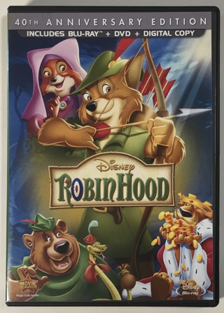 Disney Robin Hood 40th Anniversary Edition Blu-ray + DVD + Digital 2-Disc Combo Movie