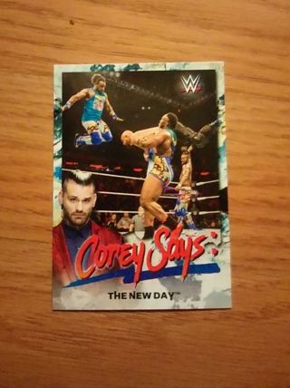 WWE 2019 Smackdown Live The New Day Corey Says Insert Card
