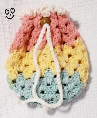 Crochet Pull String Gift Bag, or Shower Favor Bags**LQQK***