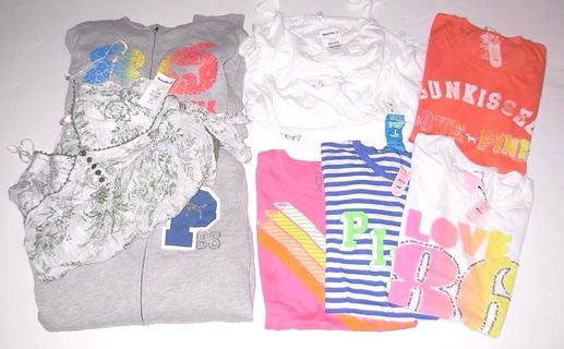 NWT 8-pc Clothing Lot Roxy, Victoria's Secret, Buckle Women's size Large and X-Large