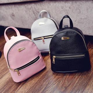 Fashion Women PU Leather Backpacks Small Travel Rucksack Handbags School Bag