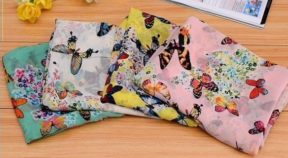Beautiful long butterfly scarf NEW