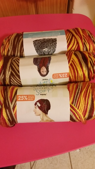 3 Skins of Caron Simply Soft Yarn